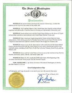 State of Washington Proclamation